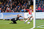 Sheffield United's Matt Done scoring his sides third goal during the League One match at the Kingsmeadow Stadium, London. Picture date: September 10th, 2016. Pic David Klein/Sportimage