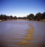 River channel of Murray River, Victoria, Australia