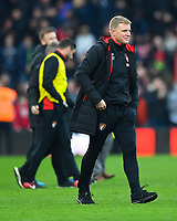 A happy AFC Bournemouth Manager Eddie Howe at the final whistle during AFC Bournemouth vs Arsenal, Premier League Football at the Vitality Stadium on 14th January 2018