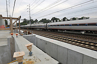 Amtrak Northeast Regional movement through the construction of the Commuter Railroad Station at Fairfield Metro Center - Site visit 12 of once per month Chronological Documentation.