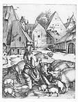 The lost son at the boar, Albrecht Dürer, 1494 - 1498