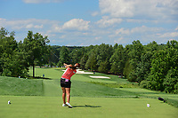 Jeongeun6 Lee (KOR) watches her tee shot on 2 during Saturday's third round of the 72nd U.S. Women's Open Championship, at Trump National Golf Club, Bedminster, New Jersey. 7/15/2017.<br /> Picture: Golffile | Ken Murray<br /> <br /> <br /> All photo usage must carry mandatory copyright credit (&copy; Golffile | Ken Murray)