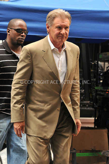 WWW.ACEPIXS.COM . . . . .  ....June 22 2009, New York City....Actor Harrison Ford was on the set of the new movie 'Morning Glory' on the Upper West Side of Manhattan on June 22 2009 in New York City....Please byline: AJ Sokalner - ACEPIXS.COM..... *** ***..Ace Pictures, Inc:  ..tel: (212) 243 8787..e-mail: info@acepixs.com..web: http://www.acepixs.com