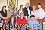 Rosemary, Julie and Michael Healy Rae Kilgarvan seated celebrated their birthday's with their family in Lord Kenmare's Killarney on Saturday night back row l-r: Rosie, Denis, Eileen Healy-Rae, John, Mary and Jack Healy