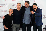 "Javier Gutierrez, Michael Fassbender, Hovik Keuchkerian and Carlos Bardem during the presentation of the film ""Assassin's Creed"" in Madrid, Spain. December 07, 2016. (ALTERPHOTOS/BorjaB.Hojas)"