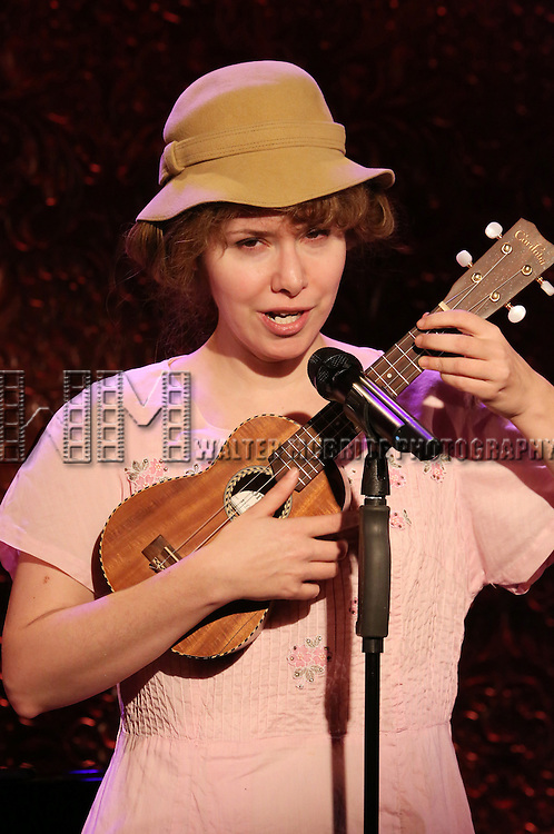"Nellie McKay previews her show ""A Girl Named Bill - The Life and Times of Billy Tipton"" at Feinstein's/54 Below on January 25, 2017 in New York City."