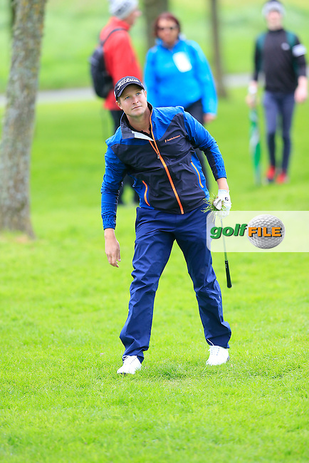 Bjorn Akesson (SWE) plays his 2nd shot on the 17th hole during Thursday's Round 1 of the 2016 Dubai Duty Free Irish Open hosted by Rory Foundation held at the K Club, Straffan, Co.Kildare, Ireland. 19th May 2016.<br /> Picture: Eoin Clarke | Golffile<br /> <br /> <br /> All photos usage must carry mandatory copyright credit (&copy; Golffile | Eoin Clarke)