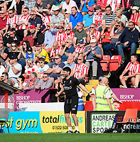 Lincoln City manager Danny Cowley encourages the fans during the second half<br /> <br /> Photographer Chris Vaughan/CameraSport<br /> <br /> The EFL Sky Bet League Two - Lincoln City v Tranmere Rovers - Monday 22nd April 2019 - Sincil Bank - Lincoln<br /> <br /> World Copyright © 2019 CameraSport. All rights reserved. 43 Linden Ave. Countesthorpe. Leicester. England. LE8 5PG - Tel: +44 (0) 116 277 4147 - admin@camerasport.com - www.camerasport.com
