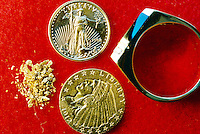 GOLD<br /> Coins, Native Dust &amp; Ring