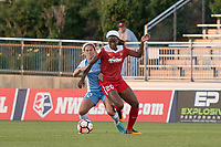 Boyds, MD - Saturday June 03, 2017: Cheyna Williams, Camille Levin during a regular season National Women's Soccer League (NWSL) match between the Washington Spirit and Houston Dash at Maureen Hendricks Field, Maryland SoccerPlex.