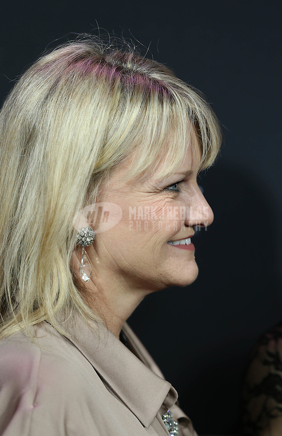 Feb. 2, 2013; New Orleans, LA, USA: Gayle Mariucci , wife of former NFL coach Steve Mariucci (not pictured) on the red carpet prior to the Super Bowl XLVII NFL Honors award show at Mahalia Jackson Theater. Mandatory Credit: Mark J. Rebilas-USA TODAY Sports