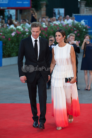 Colin Firth, Livia Giuggioli  at the premiere of Nocturnal Animals at the 2016 Venice Film Festival.<br /> September 2, 2016  Venice, Italy<br /> CAP/KA<br /> &copy;Kristina Afanasyeva/Capital Pictures /MediaPunch ***NORTH AND SOUTH AMERICAS ONLY***