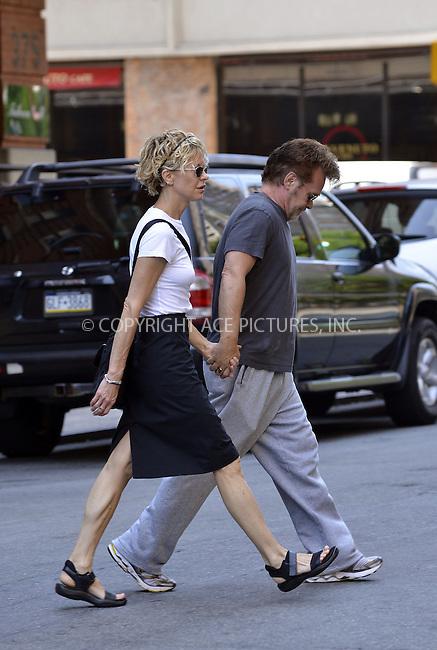 WWW.ACEPIXS.COM<br /> <br /> June 24 2013, New York City<br /> <br /> John Mellencamp and Meg Ryan walk in Tribeca on June 24 2013 in New York City<br /> <br /> By Line: Curtis Means/ACE Pictures<br /> <br /> <br /> ACE Pictures, Inc.<br /> tel: 646 769 0430<br /> Email: info@acepixs.com<br /> www.acepixs.com