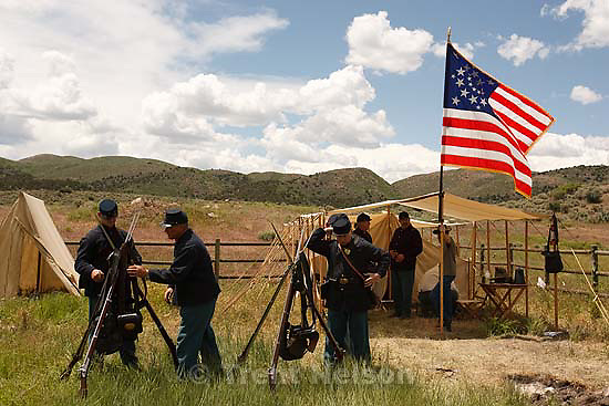 Mountain Meadows - An honor guard made up of descendants of the Mountain Meadows Massacre survivors prepare for a commemoration at the site, Saturday May 30, 2009