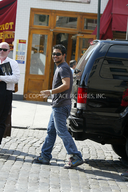 WWW.ACEPIXS.COM ** ** ** ....August 8, 2006, New York City. ....Wilmer Valderrama arrives downtown to have lunch with friends at Pastis restaurant.........Please byline: Philip Vaughan -- ACEPIXS.COM.. *** ***  ..Ace Pictures, Inc:  ..Philip Vaughan (212) 243-8787 or (646) 769 0430..e-mail: info@acepixs.com..web: http://www.acepixs.com