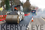 Council crews laying down a new surface in Killarney on Monday