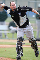 March 29, 2010:  Catcher Kyle Phillips of the Toronto Blue Jays organization during Spring Training at the Englebert Minor League Complex in Dunedin, FL.  Photo By Mike Janes/Four Seam Images