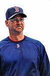 11 March 2010: Boston Red Sox Manager Terry Francona watches his team warm up prior to a Spring Training game against the New York Mets at Tradition Field in Port St. Lucie, Florida. The Red Sox defeated the Mets 8-2 in rain delayed Grapefruit League action. Mandatory Credit: Ed Wolfstein Photo