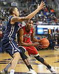UNLV's Derrick Jones, Jr. pushes past Nevada's Kaileb Rodriguez during a men's college basketball game in Reno, Nev., on Saturday, Jan. 23, 2016. Cathleen Allison/Las Vegas Review-Journal