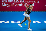 Alizé Cornet of France vs Venus Williams of USA during their Singles Round 2 match at the WTA Prudential Hong Kong Tennis Open 2016 at the Victoria Park Tennis Stadium on 13 October 2016 in Hong Kong, China. Photo by Marcio Rodrigo Machado / Power Sport Images