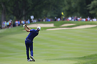 Dustin Johnson (USA) plays his 2nd shot on the 2nd hole during Sunday's Final Round of the WGC Bridgestone Invitational 2017 held at Firestone Country Club, Akron, USA. 6th August 2017.<br /> Picture: Eoin Clarke | Golffile<br /> <br /> <br /> All photos usage must carry mandatory copyright credit (&copy; Golffile | Eoin Clarke)