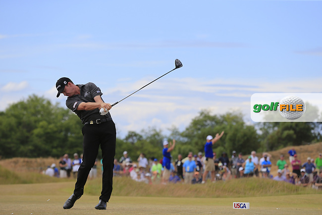 Jimmy WALKER (USA) tees off the 4th tee during Thursday's Round 1 of the 2015 U.S. Open 115th National Championship held at Chambers Bay, Seattle, Washington, USA. 6/18/2015.<br /> Picture: Golffile | Eoin Clarke<br /> <br /> <br /> <br /> <br /> All photo usage must carry mandatory copyright credit (&copy; Golffile | Eoin Clarke)