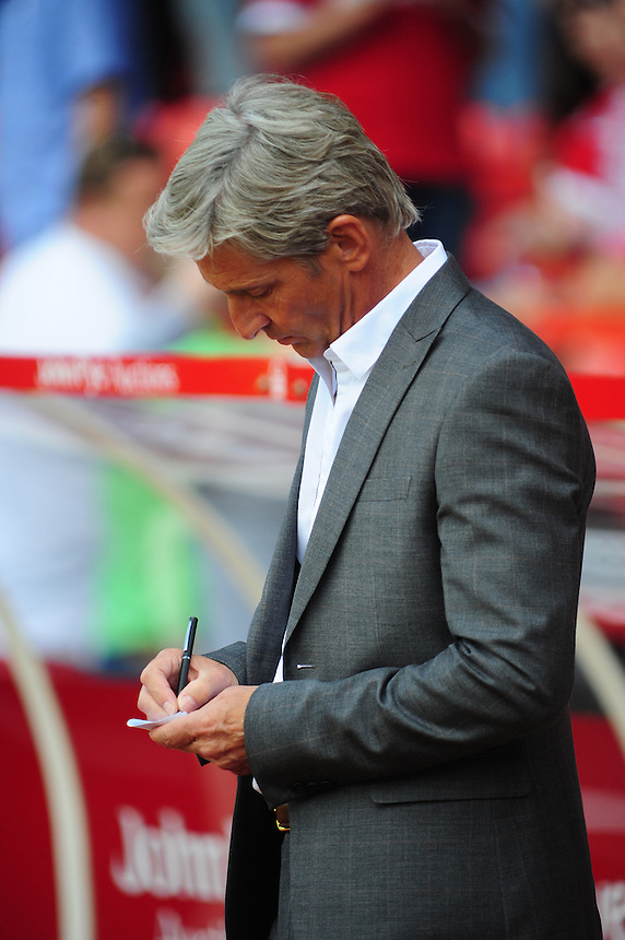 Blackpool manager Jos&eacute; Riga <br /> <br /> Photographer Chris Vaughan/CameraSport<br /> <br /> Football - The Football League Sky Bet Championship - Nottingham Forest v Blackpool - Saturday 9th August 2014 - The City Ground - Nottingham<br /> <br /> &copy; CameraSport - 43 Linden Ave. Countesthorpe. Leicester. England. LE8 5PG - Tel: +44 (0) 116 277 4147 - admin@camerasport.com - www.camerasport.com