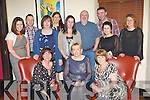 Ann Lucey Macroom, who is leaving the HSE in Killarney enjoyed a meal with her colleagues in Lord Kenmare's restaurant Killarney on Saturday night front row l-r: Kathleen O'Leary, Ann Lucey, Breeda Collins. Back row: Rachel O'Callaghan, Paul Kennedy, Anna Boland, Marina Lynch, Sharon Mohally, Tadgh Russell, Steve Paterson, Maria Kennedy and Sinead Collins....