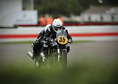 10th September 2017, Goodwood Estate, Chichester, England; Goodwood Revival Race Meeting; A pair of Norton Manx 500's exit the Goodwood chicane