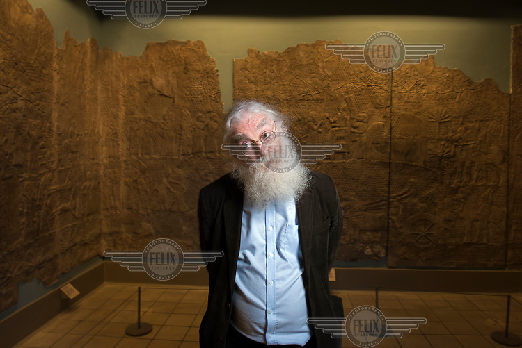 Dr Irving Finkel, the curator in charge of cuneiform inscriptions on tablets of clay from ancient Mesopotamia at the British Museum.