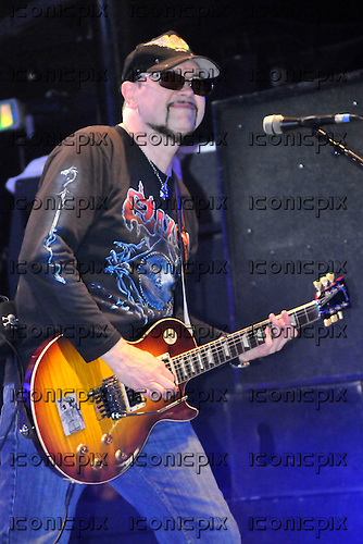 Saxon - guitarist Paul Quinn - performing live on the 30th Anniversary Tour at Koko in London - 08 Nov 2009 - Photo by: George chin