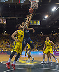 02.06.2019, EWE Arena, Oldenburg, GER, easy Credit-BBL, Playoffs, HF Spiel 1, EWE Baskets Oldenburg vs ALBA Berlin, im Bild<br /> Johannes TIEMANN (ALBA Berlin #32 ) Marcel KESSEN (EWE Baskets Oldenburg #15 ) Nathan BOOTHE (EWE Baskets Oldenburg #45 )<br /> <br /> Foto © nordphoto / Rojahn