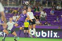 Orlando, FL - Saturday August 12, 2017: Ali Krieger, Mckenzie Meehan during a regular season National Women's Soccer League (NWSL) match between the Orlando Pride and Sky Blue FC at Orlando City Stadium.