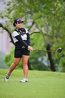 Moriya Jutanugarn (THA) watches her tee shot on 3 during round 3 of  the Volunteers of America Texas Shootout Presented by JTBC, at the Las Colinas Country Club in Irving, Texas, USA. 4/29/2017.<br /> Picture: Golffile | Ken Murray<br /> <br /> <br /> All photo usage must carry mandatory copyright credit (&copy; Golffile | Ken Murray)