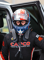 Sep 15, 2018; Mohnton, PA, USA; NHRA top fuel driver Steve Torrence during qualifying for the Dodge Nationals at Maple Grove Raceway. Mandatory Credit: Mark J. Rebilas-USA TODAY Sports