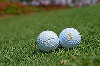 The Players balls with logos sit near the third tee during round 1 of The Players Championship, TPC Sawgrass, at Ponte Vedra, Florida, USA. 5/10/2018.<br /> Picture: Golffile | Ken Murray<br /> <br /> <br /> All photo usage must carry mandatory copyright credit (&copy; Golffile | Ken Murray)