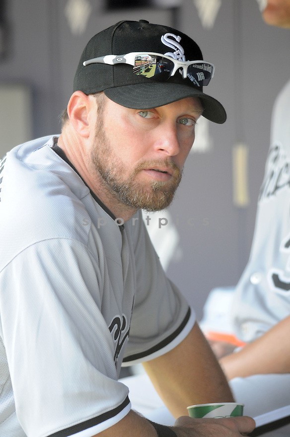 MARK KOTSAY, of the Chicago White Sox, in action during the  White Sox game against the New York Yankees  at  Yankee Stadium  on May 1, 2010...The White Sox win 7-6.
