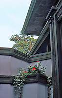 F.L. Wright: Frank W. Thomas House. Detail: Entrance.  Photo '77.