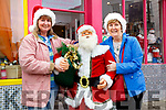 Getting into the Christmas spirit in Cahersiveen were l-r; Kathleen Golden, Santa & Marcia Evans.