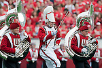 September 26, 2009: Wisconsin Badgers drum major leads the band onto the field during an NCAA football game against the Michigan State Spartans at Camp Randall Stadium on September 26, 2009 in Madison, Wisconsin. The Badgers won 38-30. (Photo by David Stluka)