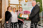 25th Anniversary Christmas Coffee Morning in Aid of South West Counselling Centre in the Royal Hotel Killarney last Thursday morning. Pictured are l-r Edel Hobbert (SWCC), Brigit Horgan, (SWCC), Mary Nicholer (SWCC and Jimmy Mulligan (CEO of SWCC).