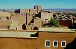 Rooftops around the old kasbah of Taourirt, Ouarzazate, Morocco