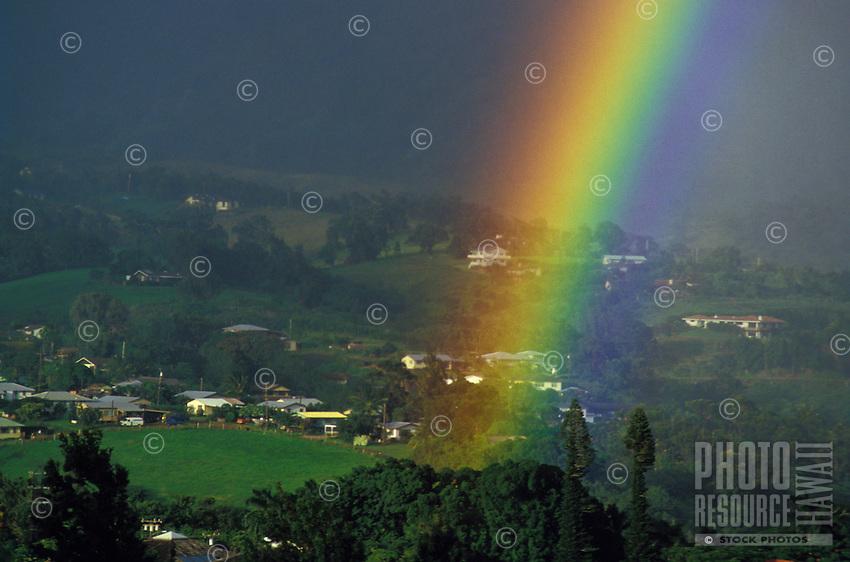 Rainbow over Princeville, Kauai north shore.