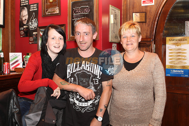 Lauren Campbell, Archie Brodigan and Mary Campbell at Sarsfields 50th Anniversary...(Photo Jenny Matthews/www.newsfile.ie)