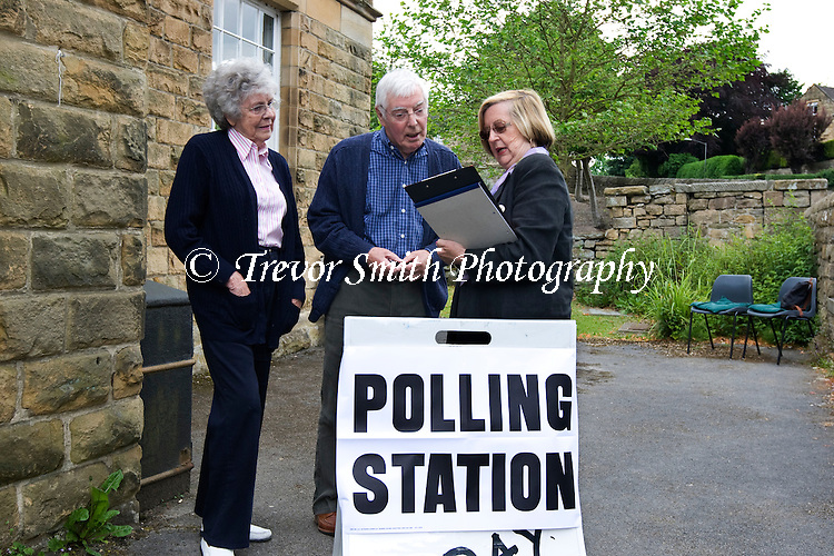 A  rural Polling Station in the Peak District village of Baslow in Derbyshire