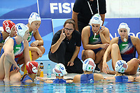 MICELI Martina coach ITALY<br /> Napoli 13-07-2019 Piscina Scandone <br /> Napoli 2019 30th Summer Universiade 3 - 14 July 2019<br /> ITALY - HUNGARY <br /> Water Polo Women Gold Metal Match <br /> Photo Cesare Purini / Insidefoto