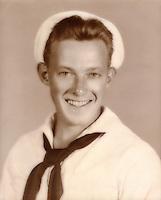 Wade R. Litzinger - Aviation Ordnanceman 3rd Class - U.S. Navy during WWII. Aboard the U.S.S. Shangri-La (CV-38) from Sept. 1944 - Feb. 1946. In Navy from Jan. 1943 - Feb. 1946. - Photo taken 1943