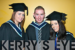 Breda Griffin, Kilmoyley, Neil Mahony, Killarney and Briggetta O'Brien graduating from Information Systems Management.