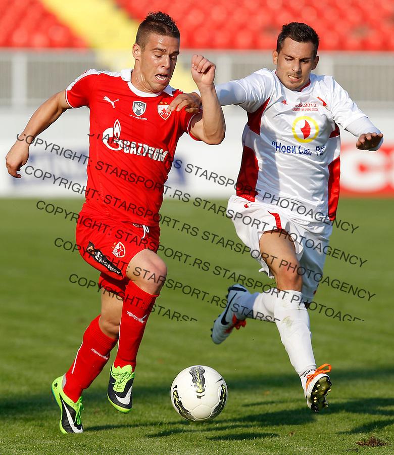 Fudbal Kup Srbije season 2013-2014<br /> Proleter Novi Sad v Crvena Zvezda<br /> Aleksandar Kovacevic (L)<br /> Novi Sad, 25.09.2013.<br /> foto: Srdjan Stevanovic/Starsportphoto &copy;