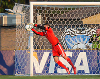 SANTA CLARA, CA - Saturday July 20, 2013:  San Jose Earthquakes goalkeeper David Bingham (1) during the San Jose Earthquakes vs Norwich City F.C. Canaries match in Buck Shaw Stadium in Santa Clara, CA. Final score SJ Earthquakes 1, Norwich City F.C. Canaries 0.
